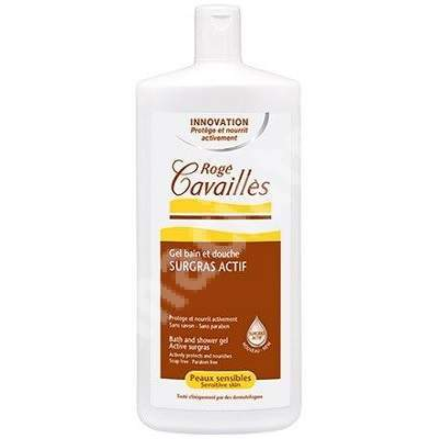 Gel surgras de baie si dus pentru piele sensibila, 300 ml, Roge Cavailles