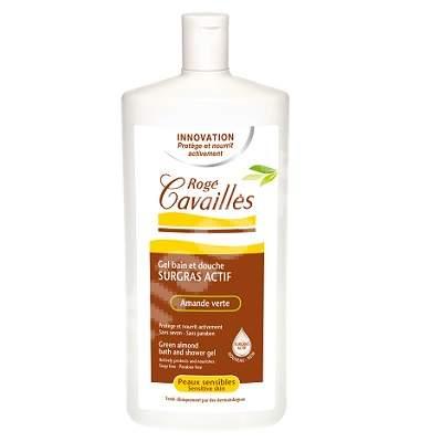 Gel surgras de baie si dus pentru piele sensibila cu aroma de migdale verzi, 750 ml, Roge Cavailles