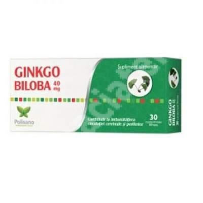 Ginkgo Biloba 40mg, 30 comprimate, Polisano