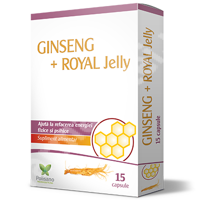 Ginseng+Royal Jelly, 15 capsule, Polisano