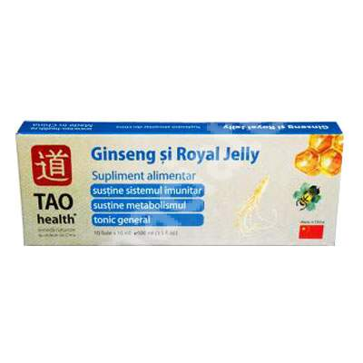 Ginseng si Royal Jelly, 10 fiole, Tao Health