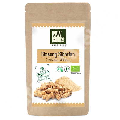 Ginseng Siberian pudra ecologica, 100 g, Rawboost Smart Food