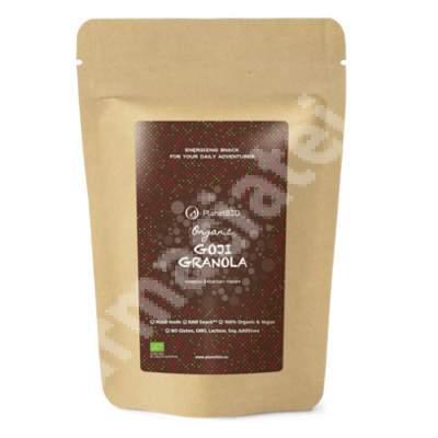 Granola Organica cu fructe goji, 50 g, Planet BIo