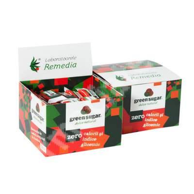 Green sugar îndulcitor, 100 cuburi, Remedia