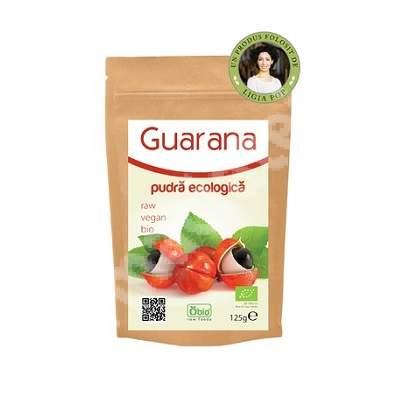 Guarana pulbere ecologica, 125 g, Obio