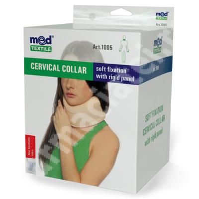 Guler cervical cu fixare usoara si placa rigida, marimea III, 1005, Med Textille