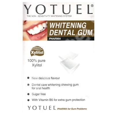 Gumă de mestecat pentru albire - Yotuel, 12 tablete, Biocosmetics