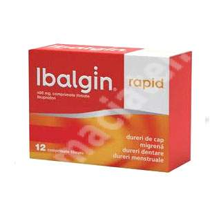 Ibalgin Rapid 400 mg, 12 comprimate, Sanofi