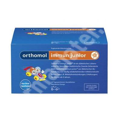 Immun Junior aroma de portocala, 30 portii tablete gumate, Orthomol