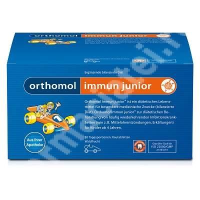 Immun Junior cu aroma de fructe de padure, 30 portii, Orthomol