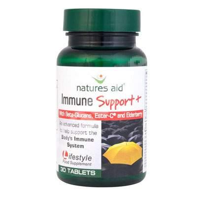 Immune Support+, 30 tablete, Natures Aid