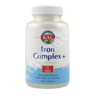 Iron complex  Kal, 100 tablete, Secom