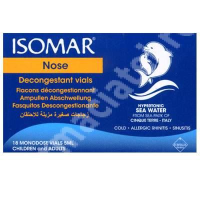 Isomar hipertonic pentru nas, fiole 18x5 ml, Euritalia