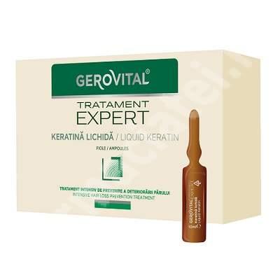 Keratina lichida Gerovital TratamentExpert, 10 fiole x 10 ml, Farmec