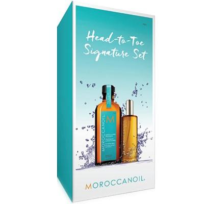 Kit Head to toe Ulei de corp 50 ml + Tratament de par închis 100 ml, Moroccanoil
