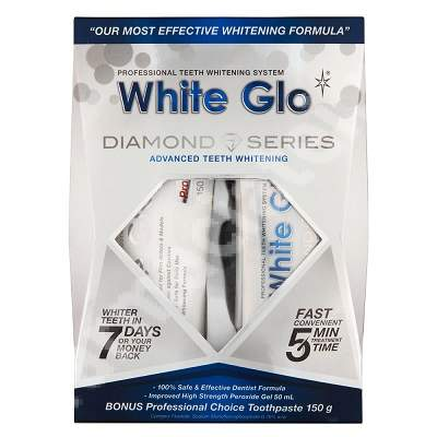 Kit Tratament White Glo Diamond Series, 50 ml + Pasta de dinti White Glo Professional Choice, 100 ml, Barros Laboratories