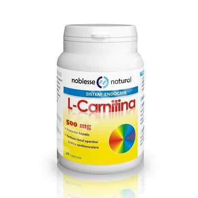 L- Carnitina 500 mg, 30 capsule, Noblesse