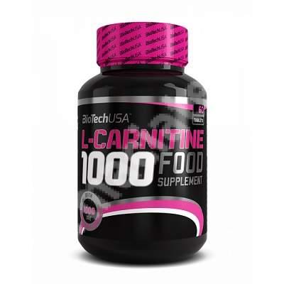 L-Carnitine 1000 mg, 60 comprimate, Biotech USA