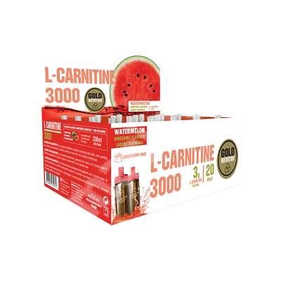 L-Carnitine 3000 mg cu aroma de pepene rosu, 20 fiole, Gold Nutrition