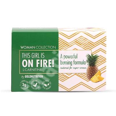 L-Carnitine On Fire Ananas Woman Collection, 15 unidoze x 10 ml, Gold Nutrition