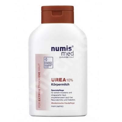Lapte de corp dermatocosmetic cu Uree 10% pentru piele uscata si foarte uscata, 300 ml, NumisMed