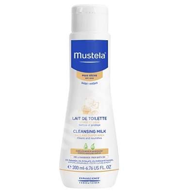Lapte de curățare piele uscată, 200 ml, Mustela