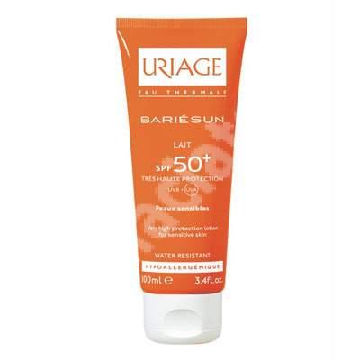 Lapte protector solar Bariesun SPF 50+, 100 ml, Uriage