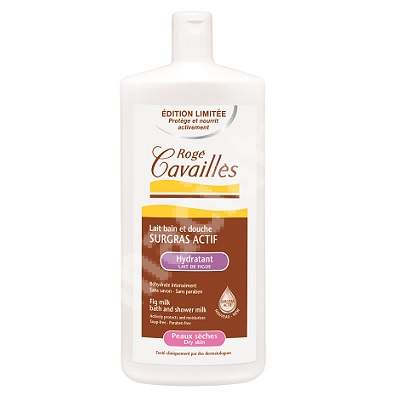 Lapte surgras hidratant de baie si dus pentru pielea uscata Smochine, 300 ml, Roge Cavailles