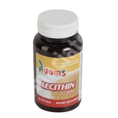Lecithin 1200 mg, 30 capsule, Adams Vision