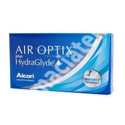 Lentile de contact -3.00 Air Optix HydraGlyde, 3 bucati, Alcon