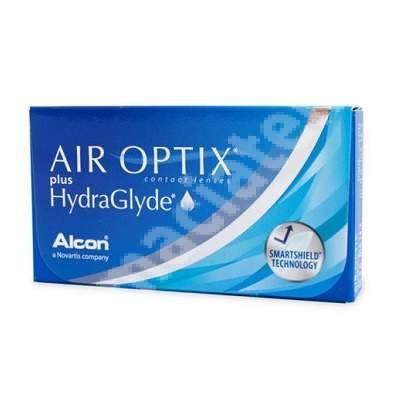 Lentile de contact, -4.50 Air Optix HydraGlyde, 6 bucăți, Alcon