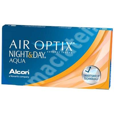Lentile de contact Air Optix Night&Day Aqua, -0.75, 6 bucati, Alcon