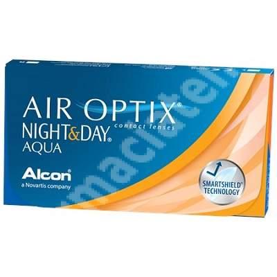 Lentile de contact Air Optix Night&Day Aqua, -4.00, 6 bucati, Alcon