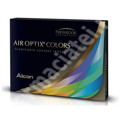 Lentile de contact cosmetice Air Optix Colors, Nuanta Brilliant Blue, 2 lentile, Alcon