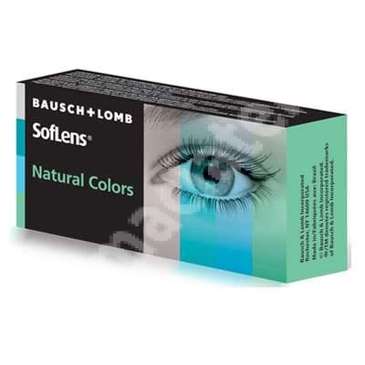 Lentile de contact cosmetice SofLens Natural Colors, Nuanta Platinum, 2 lentile, Bausch   Lomb
