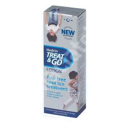 Lotiune anti paduchi Hedrin Treat and Go, 50 ml, Thornton