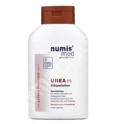 Lotiune de corp dermatocosmetica cu uree 5% pentru piele uscata si foarte uscata, 300 ml, NumisMed