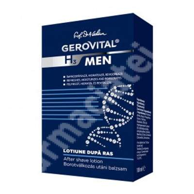 Loțiune după ras - Gerovital H3 Men, 100 ml, Farmec