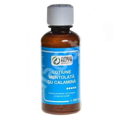 Lotiune mentolata cu calamina, 200 ml, Adya