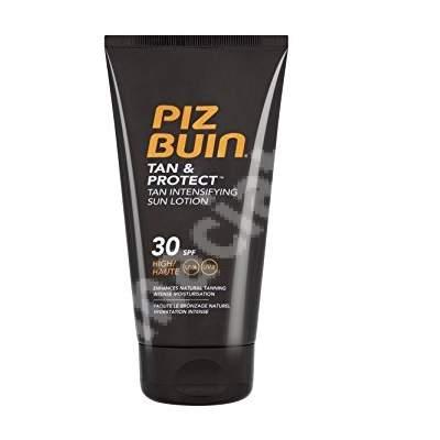 Loțiune pentru bronzare accelerată SPF 30 Tan & Protect, 150 ml, Piz Buin