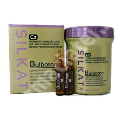 Lotiune pentru prevenirea caderii excesive a parului Silkat Bulboton C2, 12x10 ml, Bes Beauty&Scienece