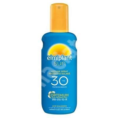 Loțiune spray cu protecție solară ridicată SPF 30 Optimum Sun, 200 ml, Elmiplant