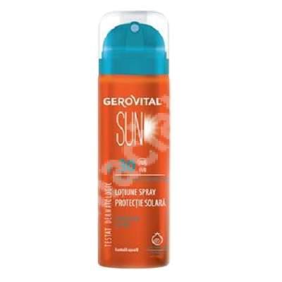 Lotiune spray protectie solara SPF 30 Gerovital Sun, 150 ml, Farmec