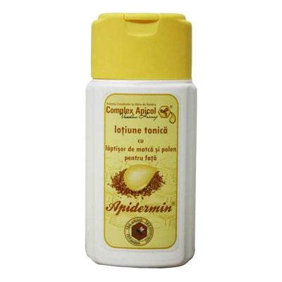 Lotiune tonica cu laptisor de matca si propolis Apidermin, 100 ml, Complex Apicol Veceslav