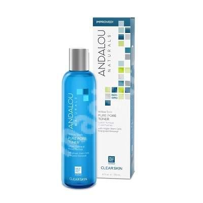 Loțiune tonică pentru reducerea porilor tenului gras sau acneic Clear Skin Andalou, 178 ml, Secom