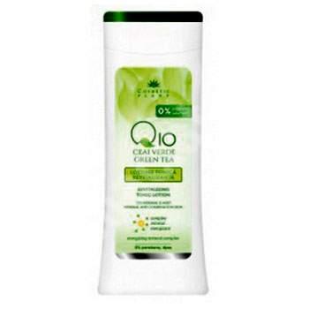 Lotiune tonica revitalizanta Q10 si ceai verde, 200 ml, Cosmetic Plant