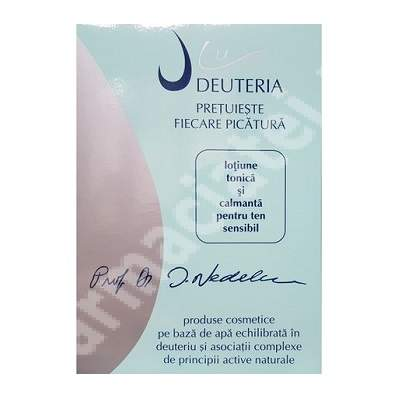 Lotiune tonica si calmanta pentru ten sensibil, 150 ml, Deuteria Cosmetics