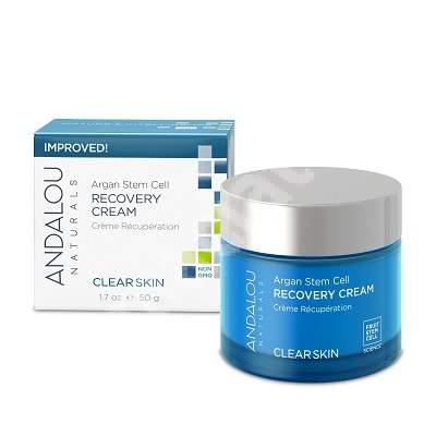 Loțiune ușoară de noapte pentru calmarea și reducerea imperfecțiunilor tenului Clear Skin Andalou, 50 g, Secom