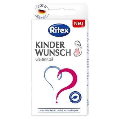 Lubrifiant de conceptie KinderWunsch, 8 aplicatoare, Ritex