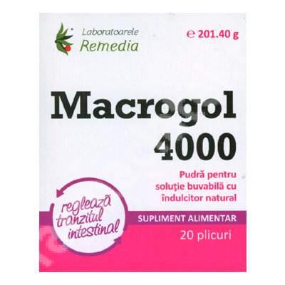 Macrogol 4000, 20 plicuri, Remedia